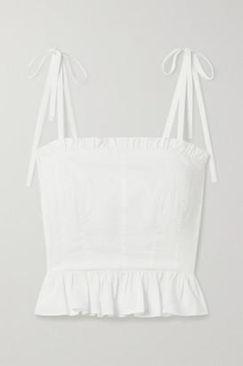 Ulla Johnson Filipa Ruffled Cotton-poplin Top - White