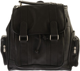 Piel Leather Double Loop Flap-Over Laptop Backpack 3000