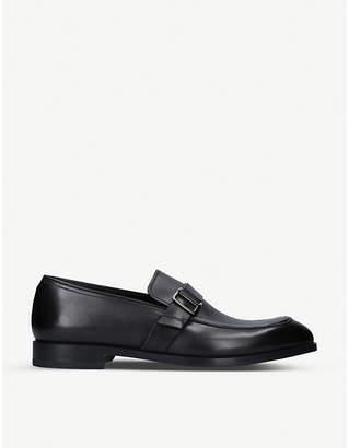 Ermenegildo Zegna Flex leather buckle loafers