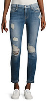 7 For All Mankind Ankle Skinny Released Hem Jeans