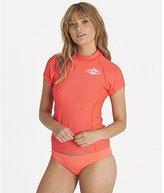 Billabong Women's Surf Dayz Performance Fit Short Sleeve Swim Rashguard