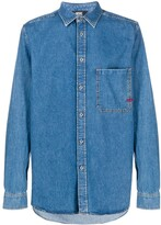 Diesel denim long-line shirt