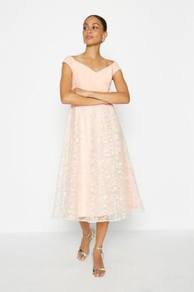 Coast Bardot Embroidered Skirt Dress