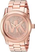 Michael Kors Runway MK5661 Women's Wrist Watches, Gold Dial