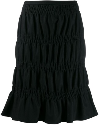 2000's Gathered Knee-Length Skirt