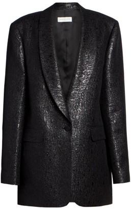 Dries Van Noten Metallic Loose Tuxedo Jacket