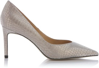 Nissa Silver-Tone Glitter Finish Stiletto