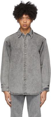 we11done Grey Stonewashed Denim Shirt