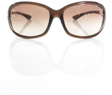 Tom Ford Brown Oval Jennifer Sunglasses In Case