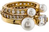 Henri Bendel Midi Pearl Ring Set