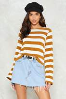 Nasty Gal nastygal Serves You Stripe Sweater