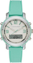 Skechers Womens Green Silicone Strap Analog/Digital Chronograph Watch