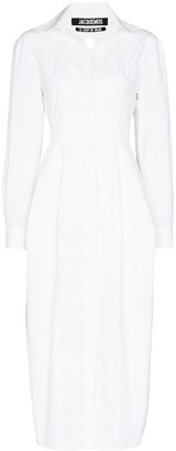 Jacquemus Valensole cutout shirt dress