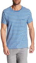 Save Khaki Short Sleeve Striped Print Pocket Shirt