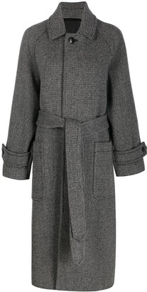 AMI Paris Belted Long Coat