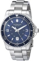 Victorinox Men's 241602 Maverick Stainless Steel Bracelet Watch with Blue Dial