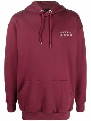 Throwback. Logo-Print Cotton Hoodie
