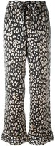 Equipment printed straight trousers - women - Silk - M