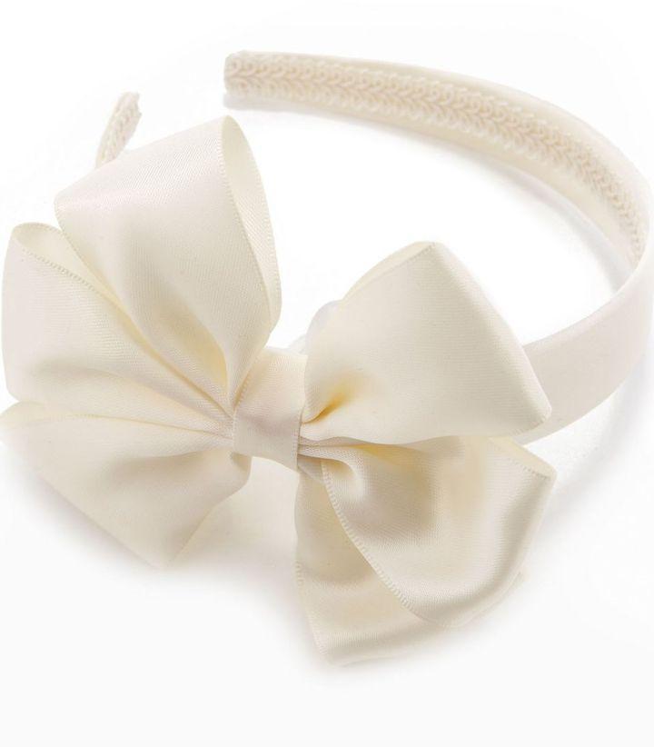 Copper Key satin bow headband
