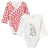 Stella McCartney Pack of 2 Red and White Birdie Bodies
