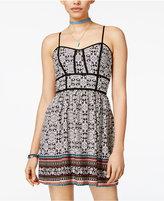 Trixxi Juniors' Printed Fit & Flare Dress