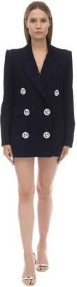 Raisa & Vanessa Button Jacket Crepe Dress W/crystals