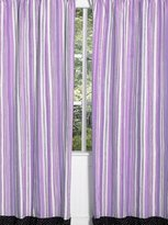 JoJo Designs Sweet Purple and Black Kaylee Window Treatment Panels - Set of 2