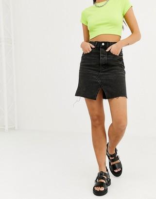 Cheap Monday Shrunken Skirt Dust Black