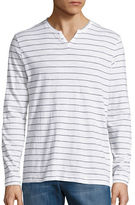 Kenneth Cole New York Slim Striped Henley Tee