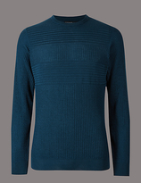 Autograph Pure Merino Wool Striped Slim Fit Jumper