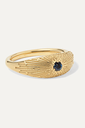MEADOWLARK Inez Gold-plated Sapphire Ring