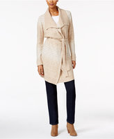 Style&Co. Style & Co Petite Belted Space-Dyed Wrap Cardigan, Only at Macy's