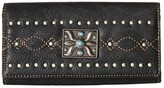 American West Black Canyon Flap Wallet Bi-fold Wallet