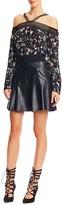 Nicole Miller Leather Flippy Skirt