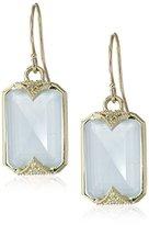 Mizuki 14k Yellow Gold and Aquamarine Earrings