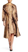 Oscar de la Renta Long Sleeve Water Resistant Silk Trench Coat