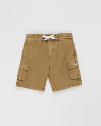 Scotch Shrunk Cotton Linen Cargo Shorts - Teens