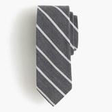 J.Crew English wool-silk tie in narrow stripe