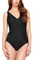 Gottex Women's Lattice Surplice One-Piece Swimsuit
