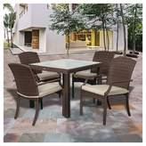 Atlantic Miami Beach 5pc Wicker Patio Dining Set - Brown