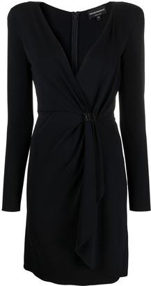 Emporio Armani Tied-Waist Wrap-Front Dress
