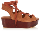 See by Chloe Lace-up suede platform sandals