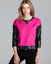 Milly Pullover - Nora Leather Sleeve