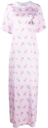 Natasha Zinko Graphic Print Maxi Dress