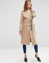 Asos Trench with Contrast Chambray Detail