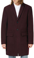 Topman Shawl Collar Wool Blend Topcoat