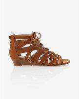 Express stud embellished lace-up sandal