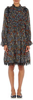 Warm Women's Floral Petite Maison Dress-BLACK