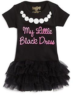 Sara Kety Girls' My Little Black Dress Tutu Bodysuit - Baby