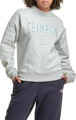 Champion Reverse Weave(R) Quilted Mock Neck Sweatshirt